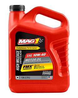 Моторное масло MAG 1® HIGH MILEAGE SYNTHETIC BLEND 10W‑40 MOTOR OIL (3.78л)