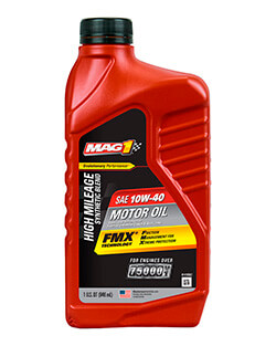 Моторное масло MAG 1® HIGH MILEAGE SYNTHETIC BLEND 10W‑40 MOTOR OIL (0.946л)
